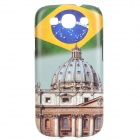Brazil Pattern Protective ABS Back Case for Samsung Galaxy S3 i9300 - White + Green + Multicolored