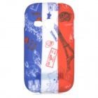 Graffiti Style Eiffel Tower Pattern Back Case for Samsung Galaxy Young S6310 / S6312 - Multicolored