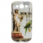 America Statue of Liberty Pattern Protective ABS Back Case for Samsung Galaxy S3 i9300