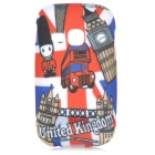 Graffiti Style UK Travel Pattern Back Case for Samsung Galaxy Yong S6310 / S6312 - Multicolored