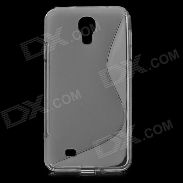 ''S'' Shaped Anti-skid Protective TPU Back Case for Samsung Galaxy J/N075T - Translucent White yi yi s shaped anti skid protective tpu back case for sony xperia e translucent grey