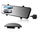 "KVD 6000A 4.3"" LCD 1080P 3.0 MP + 5.0 MP Dual-Lens 170 Degree Wide Angle Car DVR w/ 3-IR LED - Black"
