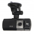 "AT580 2.7"" TFT 3.0 MP CMOS 1080P Dual-Lens Car DVR Camcorder w/ 1-IR LED + HDMI + AV-IN - Black"