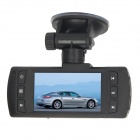 "AT580 2.7"" TFT 3.0 MP CMOS 1080P double-Lens voiture DVR Camcorder w / 1-LED IR + HDMI + AV-IN - Noir"