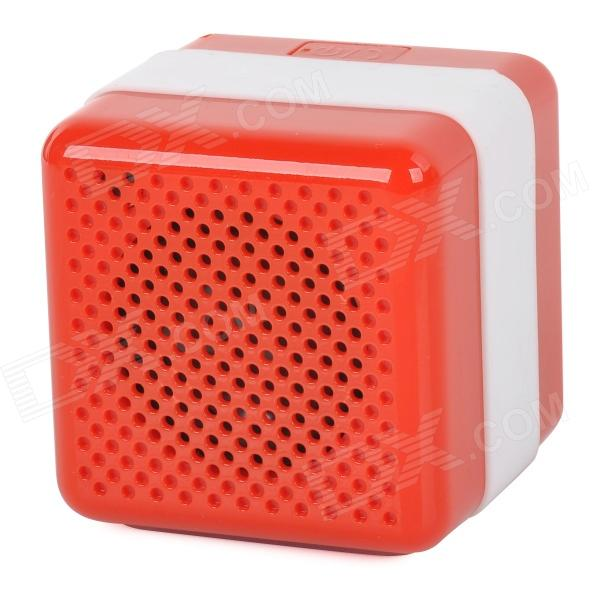 Q3 Portable Wireless Bluetooth V2.1 Car Speaker w/ Microphone / Micro USB - Red + White portable professional 2 4g wireless voice amplifier megaphone booster amplifier speaker wireless microphone fm radio mp3 playing
