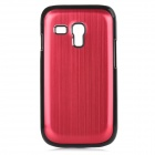 Protective Aluminium Alloy Back Case for Samsung Galaxy S3 Mini / i8190 - Red