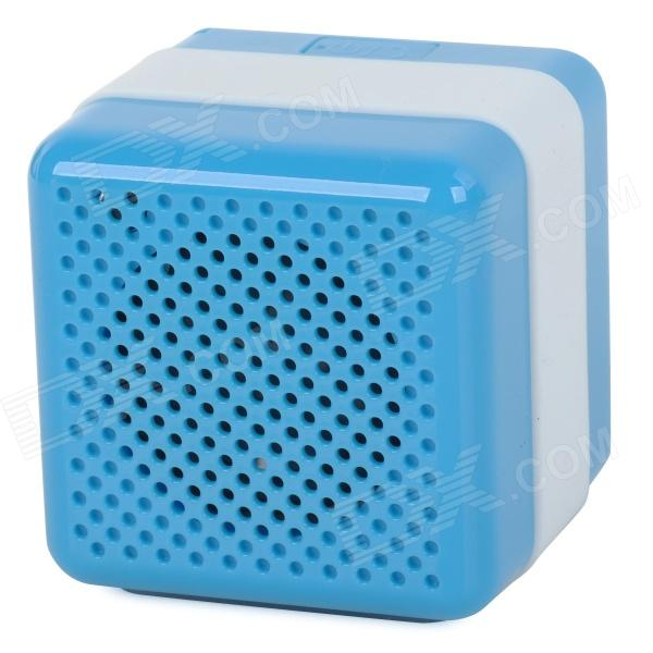 Q3 Portable Wireless Bluetooth V2.1 Speaker - Blue + White mymei best price new portable 3 5mm pillow speaker for mp3 mp4 cd ipod phone white