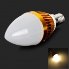 JRLED E14 3W 200lm 3300K 3-LED Warm White Light Dimmer Lamp - White + Golden (AC 220V)
