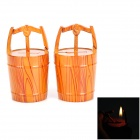 Creative Cask Style Orange Flame Butane Lighter - Orange Red (2 PCS)