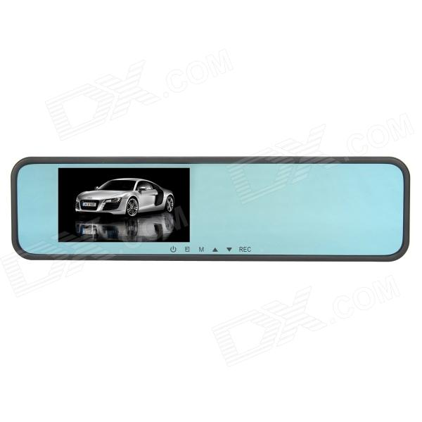 AT888 4.3 TFT 3.0 MP CMOS Rearview Mirror Car DVR Camcorder - Black 940 0 3 mp 1 3 cmos network ip camera w 2 0 lcd time display black 1 x 18650