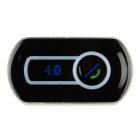 Bluetooth V4.0 Hands-free Audio Receiver Car Kit Speaker w/ Mic / 3.5mm Stereo Jack - Black + Silver