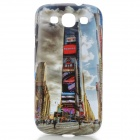Times Square Pattern Protective ABS Back Case for Samsung Galaxy S3 i9300 - White + Black
