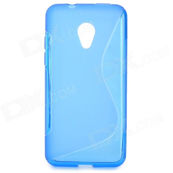 ''S'' Shaped Protective TPU Anti-skid Back Case for HTC Desire 700 - Blue htc desire s тачскрин