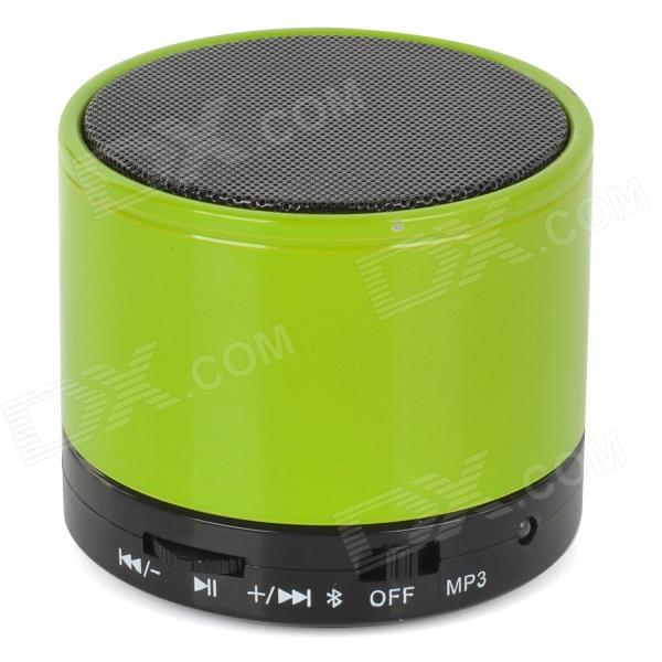 SK-S10 Universal Mini Portable Bluetooth V2.1 Speaker w/ TF / Microphone - Grass Green + Black