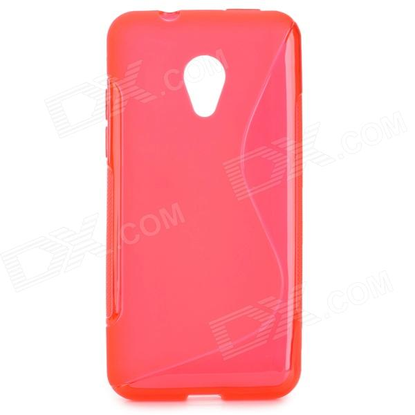 ''S'' Shaped Protective TPU Anti-skid Back Case for HTC Desire 700 - Red htc desire s тачскрин