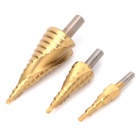 WLXY WL-7208 Spiral Groove Stepped Drill Set - Golden