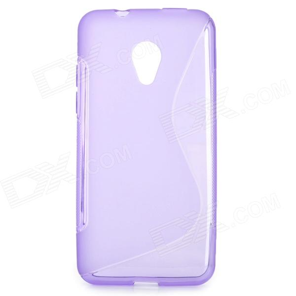 ''S'' Shaped Protective TPU Anti-skid Back Case for HTC Desire 700 - Purple htc desire s тачскрин