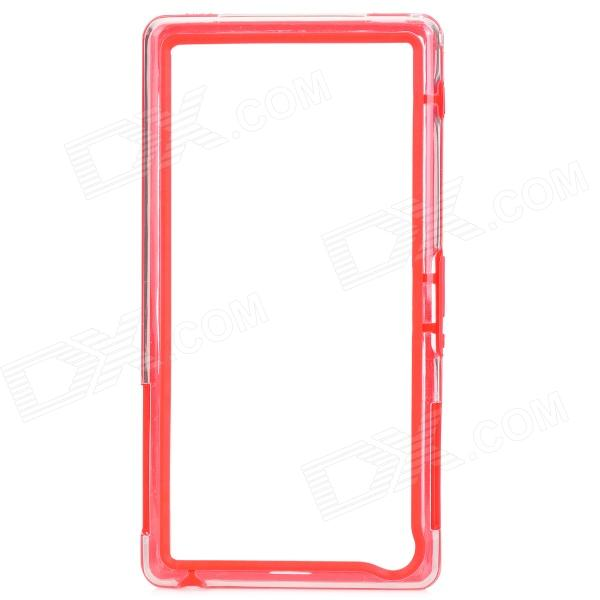 Protective TPU + PVC Bumper Frame for Sony Xperia Z1 / L39h - Red + Transparent protective pc tpu bumper frame case for sony xperia z1 l39h orange transparent