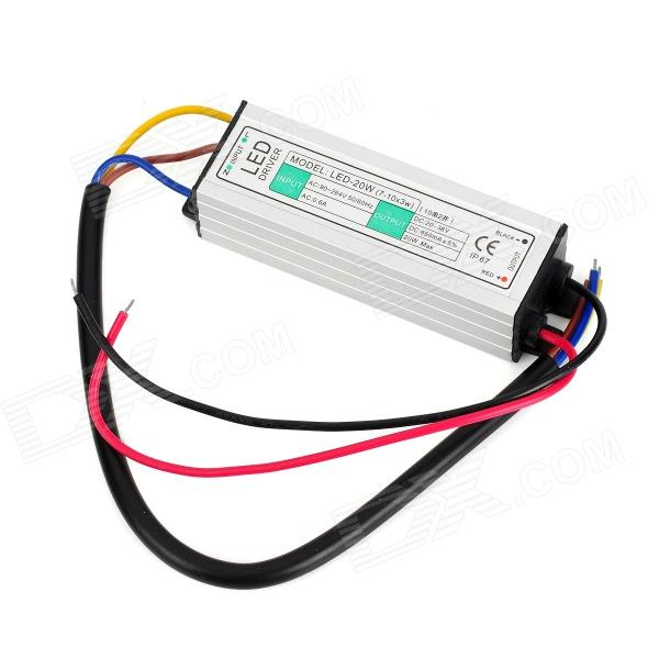 JRLED JRLED-20W Waterproof LED Power Supply - Black + Silver (90~264V)