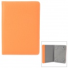 "Universal Lychee Grain Style Protective PU Leather Case for 7""~8"" Tablet PC - Orange"
