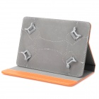 "Litchi universel Grain Style PU protection Etui cuir 7 ""~ 8"" Tablet PC - Orange"