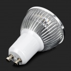 JRLED GU10 3W 230lm 3300K 3-LED Warm White Light Spotlight - White + Silver (AC 220V)