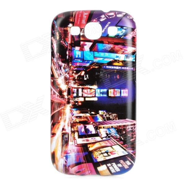 London Night View Pattern Protective ABS Back Case for Samsung Galaxy S3 i9300 - Multicolored fashion pinhole pattern protective abs back case for samsung galaxy s 3 i9300 red