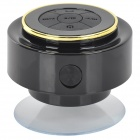 Impermeável 3W Bluetooth V3.0 Speaker w / Microfone / USB / 3.5mm - Amarelo + Preto