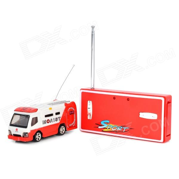 WLtoys 5020 Rechargeable 1:64 Miini 4-CH R/C Bus w/ Remote Control - Red + White wltoys wl r4 2 9 lcd 6 axis multi function remote controller for r c toy black 4 x aa