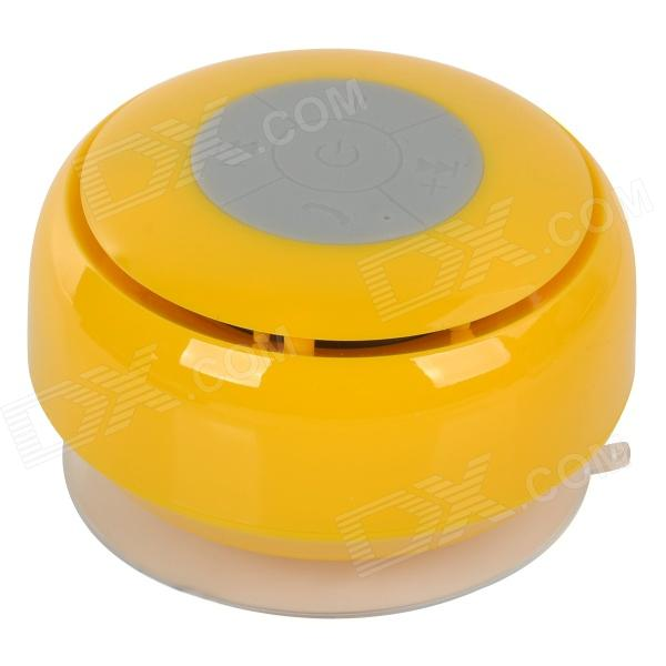 Фото Q2 Waterproof 3W Bluetooth V2.1 Speaker w/ Microphone - Yellow + Translucent White