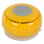 Q2 Waterproof 3W Bluetooth V2.1 Speaker w/ Microphone - Yellow + Translucent White