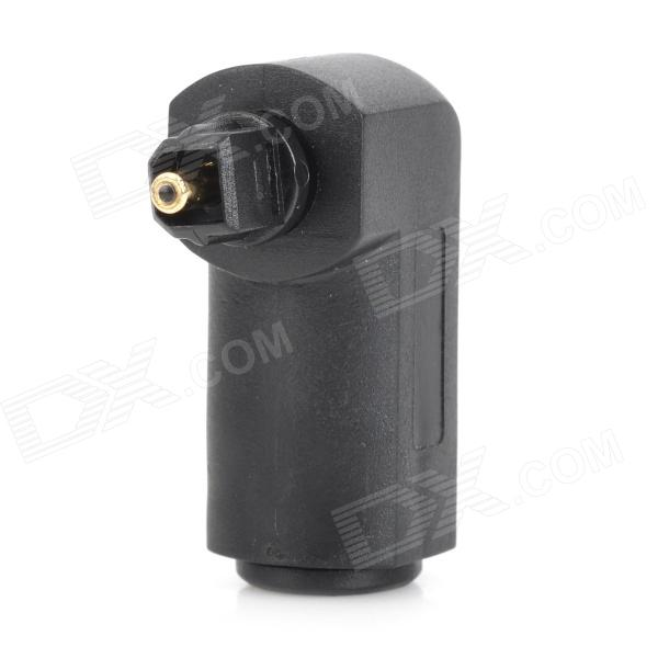 Vertikale 90 Grad Optical Fiber Interface-Stecker-Adapter - Schwarz + Gold