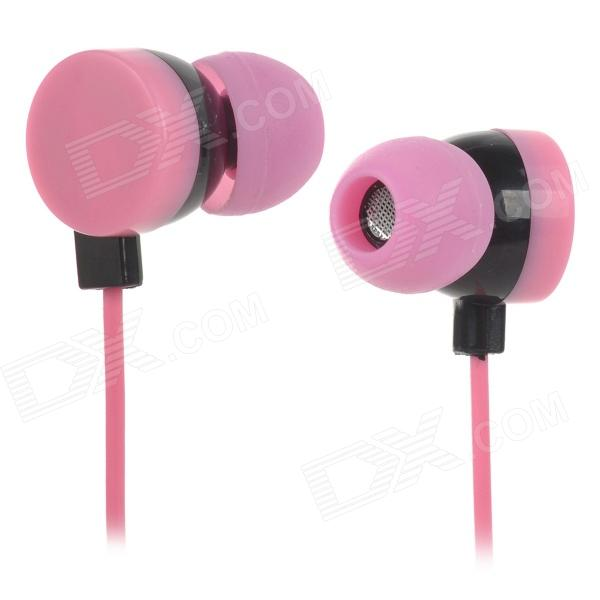 Stylish In-Ear Earphone w/ Doughnut Style Cable Organizer for MP3 - Pink