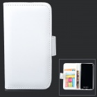 Protective PU Leather + Plastic Case w/ Card Holder Slots for IPOD TOUCH 5 - White