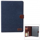 Protective PU Leather Case w/ Auto Sleep / Card Slots for Samsung Note 10.1 P601 / P600 - Dark Blue