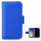 Protective PU Leather Case w/ Card Holder Slots for IPOD TOUCH 5 - Blue