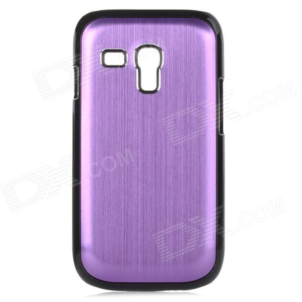 Protective Aluminium Alloy Back Case for Samsung Galaxy S3 Mini / i8190 - Purple