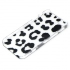 Spots Style Protective Plastic Back Case for IPHONE 5 / 5S - Black + Transparent