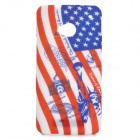 sunshine American Flag + Statue of Liberty Pattern Protective TPU Back Case for HTC ONE M7