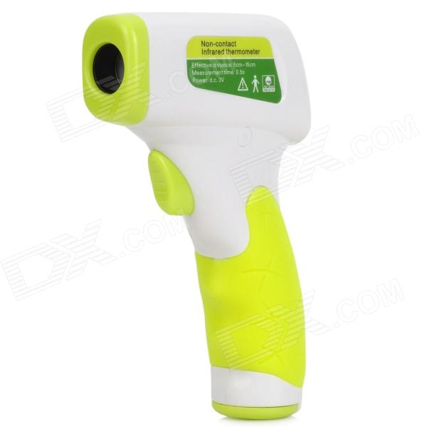 "NIT-787 1.5"" LCD Non-Contact IR Temperature Measuring Thermometer - White + Fluorescent Green"
