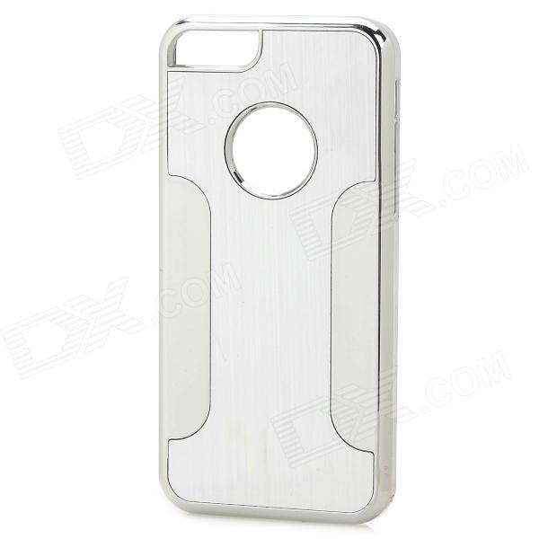 YTW-182 Protective PC + Alloy Back Case for IPHONE 5C - Silver stylish cd grain style protective aluminum alloy pc back case for iphone 5c silver transparent