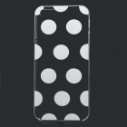 Polka Dot Style Protective Plastic Back Case for IPHONE 5 / 5S - White + Transparent