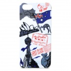 Graffiti Flag of Australia & Sydney Opera House Pattern Protective Case for IPHONE 5 / 5S - White