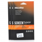 DULISIMAI Protective Clear PET Screen Protectors w/ Cleaning Cloth for LG G2 - Transparent (3 PCS)