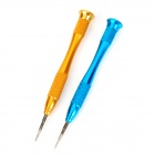 Universal Mobile Phone Opening Tool Zinc Alloy Screwdriver for IPHONE / Samsung - Golden + Blue