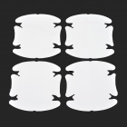 Universal OPVC Car Door Handle Protectors - White + Translucent (4 PCS)