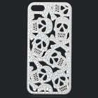 KWEN KWEN-022 Hollow-Out Skull Style Protective Plastic Back Case for IPHONE 5 / 5S - White