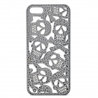 KWEN KWEN-023 Hollow-Out Skull Style Protective Plastic Back Case for IPHONE 5 / 5S - Black