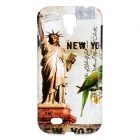 Statue of Liberty Pattern Protective ABS Back Case for Samsung Galaxy S4 i9500 - Multicolored
