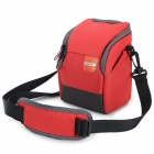 F028 Universal Camera Chinlon Bag for Sony / Canon / Nikon - Red + Grey